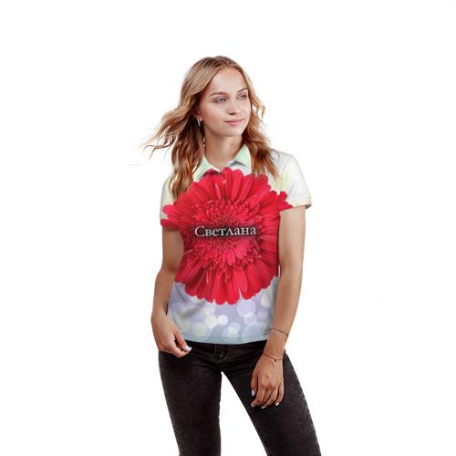 Женская рубашка поло 3D  Фото 03, Светлана