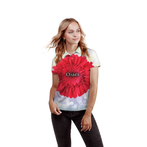 Женская рубашка поло 3D  Фото 03, Ольга