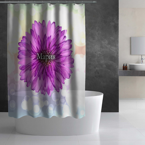 Штора 3D для ванной  Фото 02, Мария