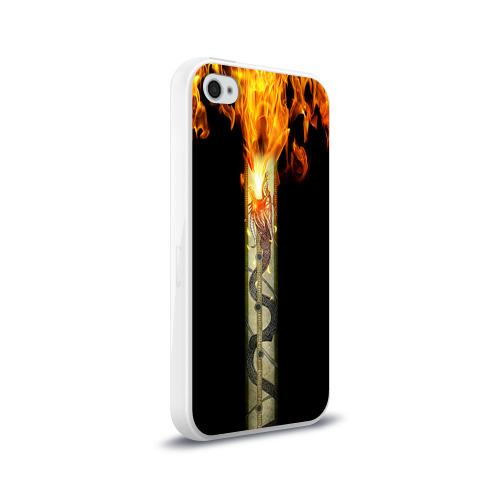 Чехол для Apple iPhone 4/4S силиконовый глянцевый  Фото 02, Dragon Lore