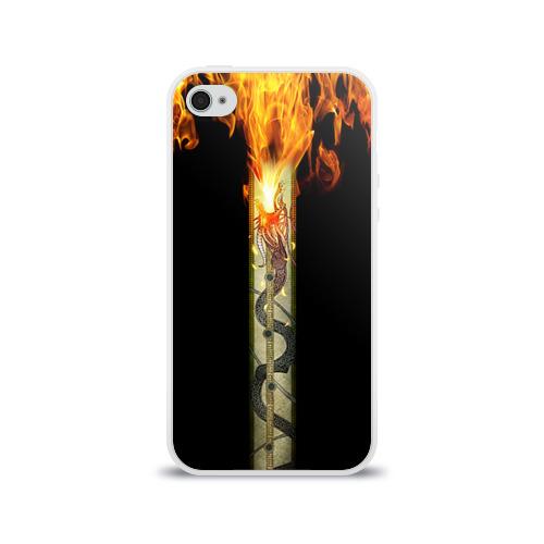 Чехол для Apple iPhone 4/4S силиконовый глянцевый  Фото 01, Dragon Lore
