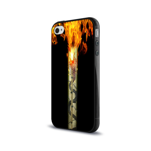 Чехол для Apple iPhone 4/4S силиконовый глянцевый  Фото 03, Dragon Lore