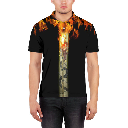 Мужская рубашка поло 3D  Фото 03, Dragon Lore