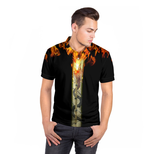 Мужская рубашка поло 3D  Фото 05, Dragon Lore