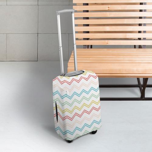 Чехол для чемодана 3D Зигзаги Фото 01