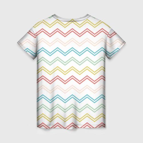 Женская футболка 3D Зигзаги Фото 01