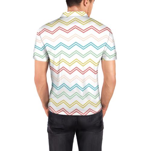 Мужская рубашка поло 3D Зигзаги Фото 01