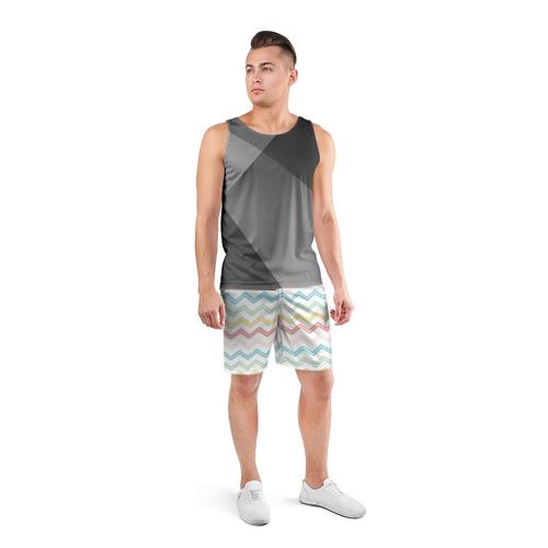 Мужские шорты спортивные Зигзаги Фото 01