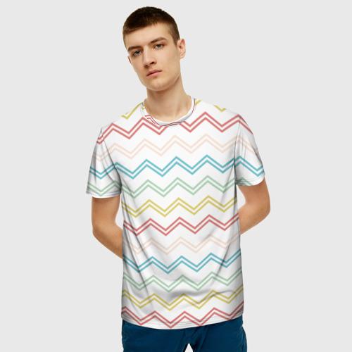 Мужская футболка 3D Зигзаги Фото 01