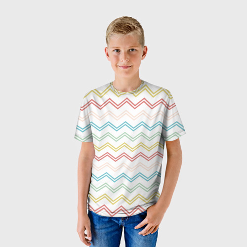 Детская футболка 3D Зигзаги Фото 01