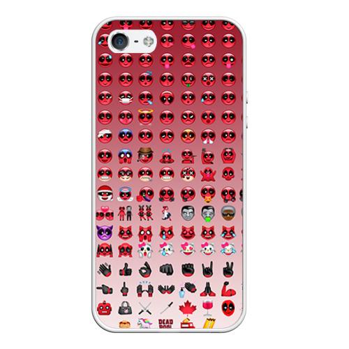 Чехол силиконовый для Телефон Apple iPhone 5/5S Dead Emoji от Всемайки