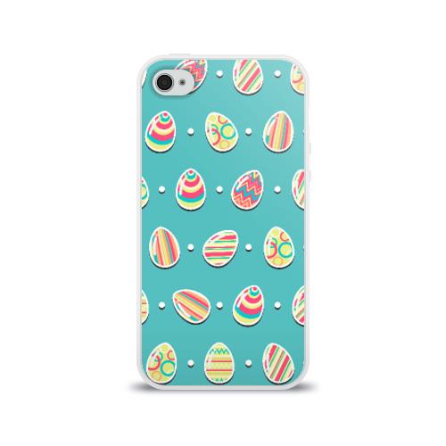 Чехол для Apple iPhone 4/4S силиконовый глянцевый Пасхальные яйца Фото 01
