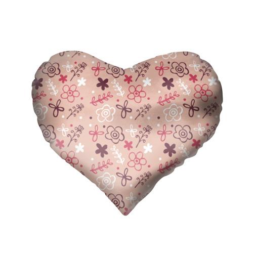 Подушка 3D сердце  Фото 02, Цветочки