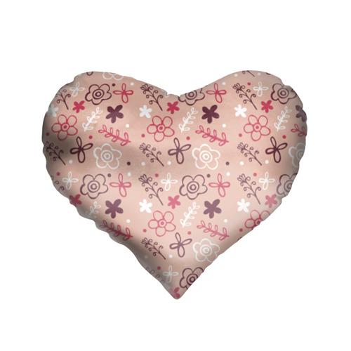 Подушка 3D сердце  Фото 01, Цветочки