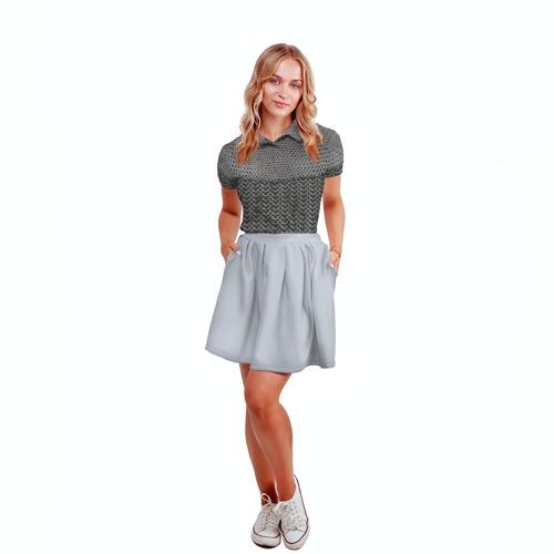 Женская рубашка поло 3D Кольчуга Фото 01