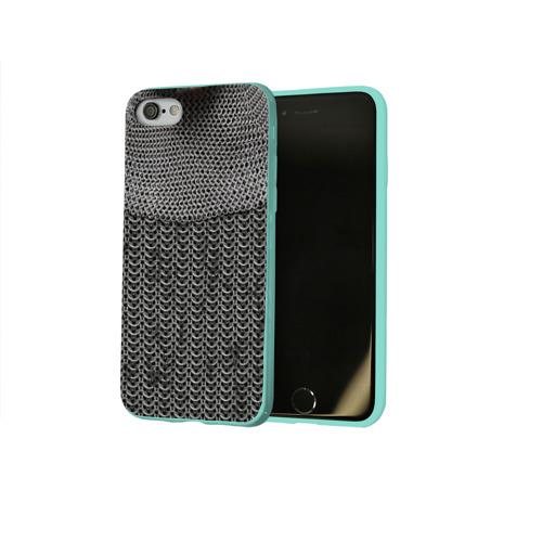 Чехол для Apple iPhone 8 силиконовый глянцевый Кольчуга Фото 01