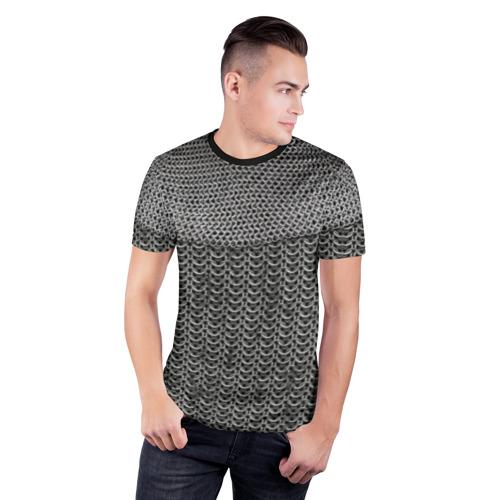 Мужская футболка 3D спортивная  Фото 03, Кольчуга