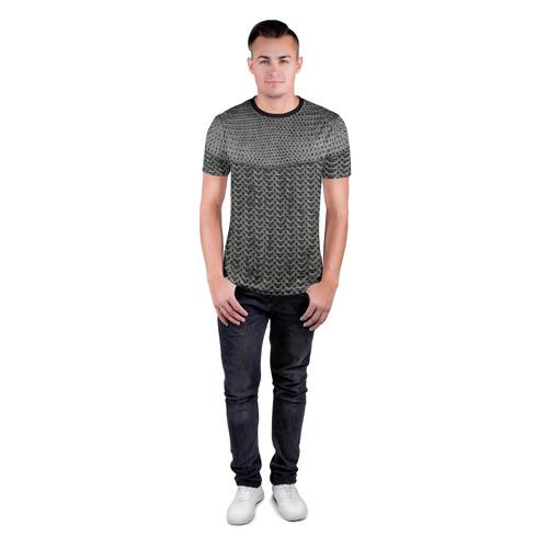 Мужская футболка 3D спортивная  Фото 04, Кольчуга
