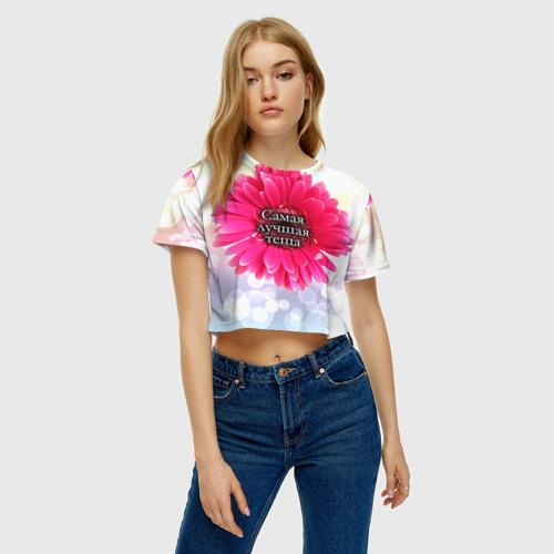 Женская футболка 3D укороченная  Фото 04, Самая лучшая теща