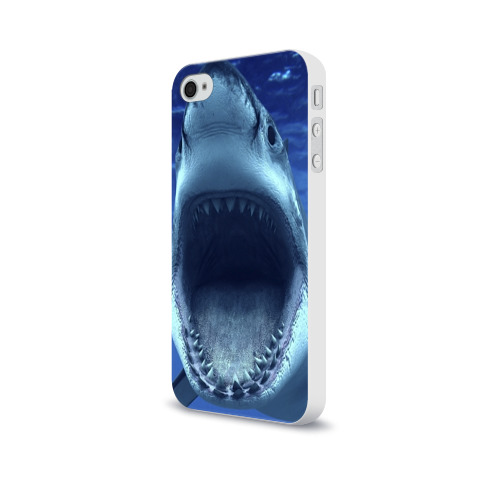 Чехол для Apple iPhone 4/4S soft-touch  Фото 03, Белая акула