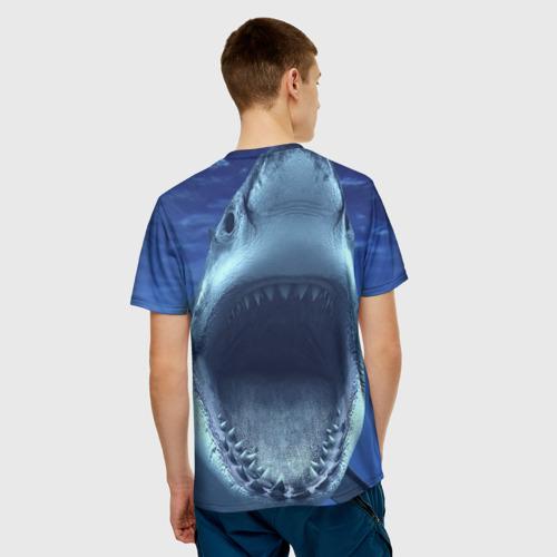 Мужская футболка 3D Белая акула