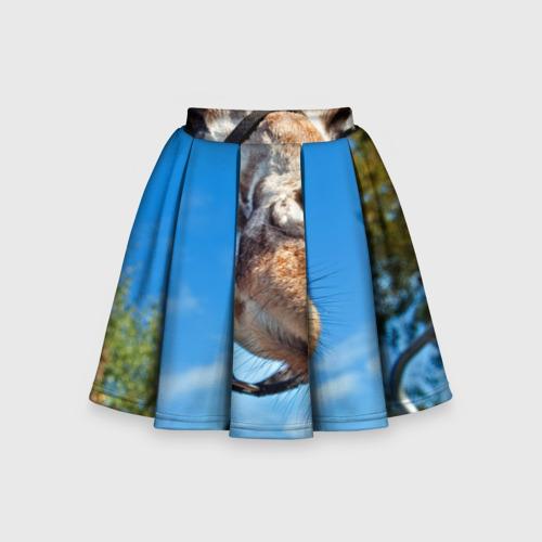 Детская юбка-солнце 3D Прикольный жираф
