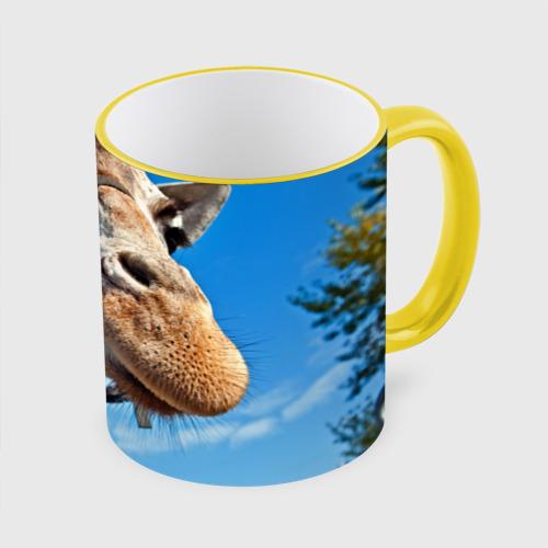 Кружка с полной запечаткой Прикольный жираф