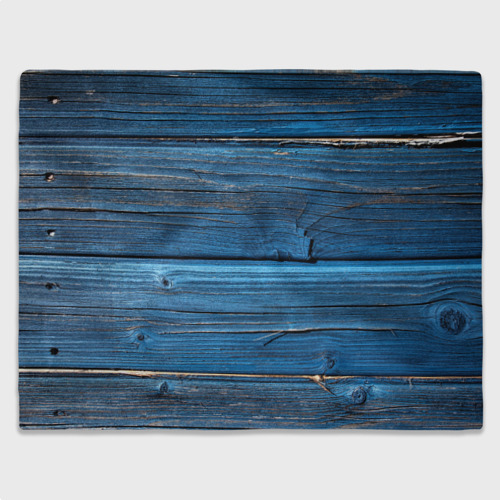 Плед 3D  Фото 03, Голубые доски