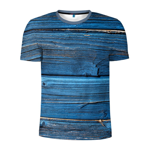 Мужская футболка 3D спортивная Голубые доски