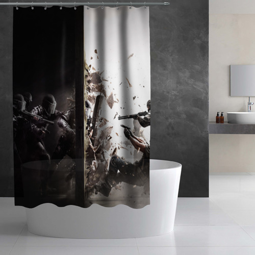 Штора 3D для ванной SWAT Фото 01