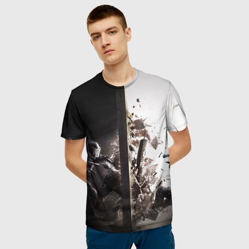 Мужская футболка 3D SWAT Фото 01