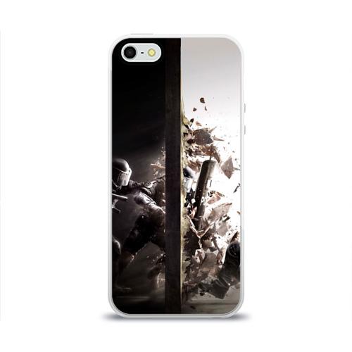 Чехол для Apple iPhone 5/5S силиконовый глянцевый SWAT Фото 01