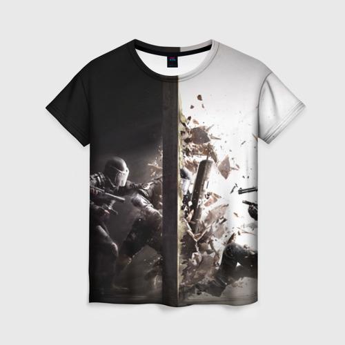 Женская футболка 3D SWAT Фото 01