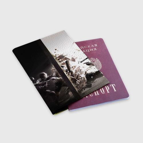 Обложка для паспорта матовая кожа SWAT Фото 01