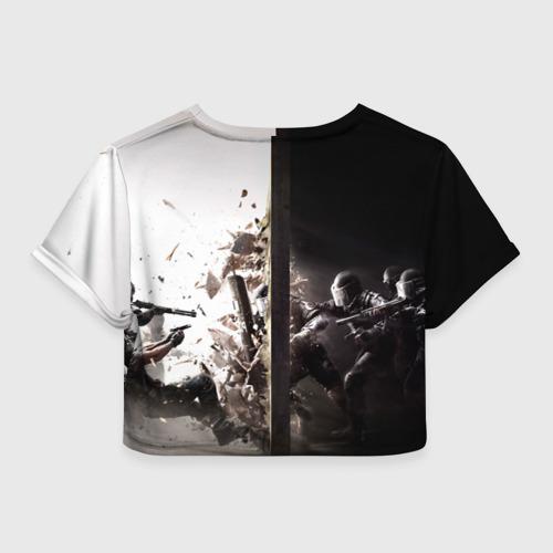Женская футболка Crop-top 3D SWAT Фото 01
