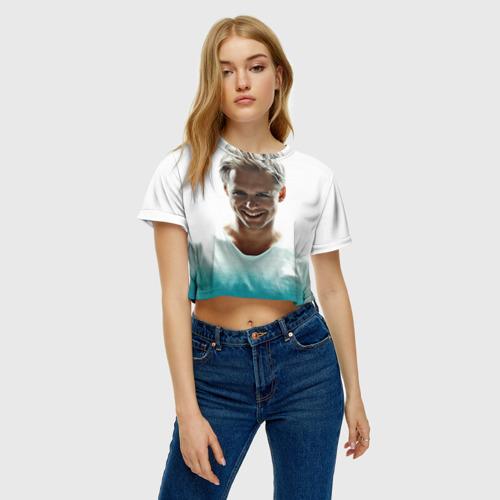 Женская футболка 3D укороченная  Фото 04, Armin Only