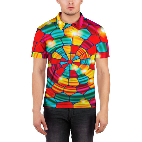 Мужская рубашка поло 3D  Фото 03, Мозаика