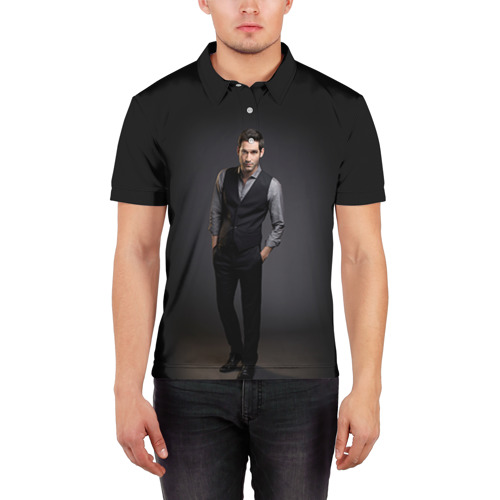 Мужская рубашка поло 3D  Фото 03, Lucifer 4