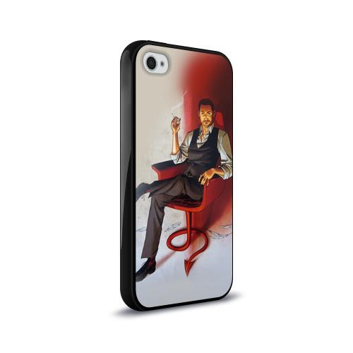 Чехол для Apple iPhone 4/4S силиконовый глянцевый  Фото 02, Lucifer 6