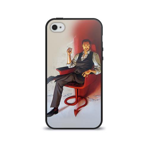 Чехол для Apple iPhone 4/4S силиконовый глянцевый  Фото 01, Lucifer 6