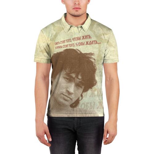 Мужская рубашка поло 3D  Фото 03, Цой