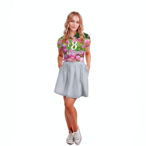 Женская рубашка поло 3D  Фото 04, С 8 марта!