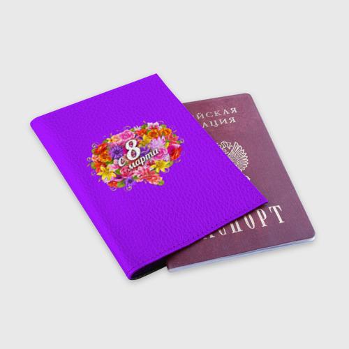 Обложка для паспорта матовая кожа  Фото 03, С 8 Марта