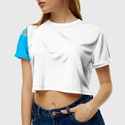 Женская футболка 3D укороченная  Фото 01, С 8 Марта!