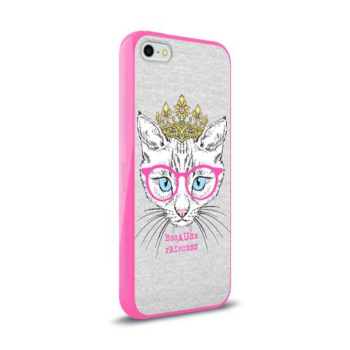 Чехол для Apple iPhone 5/5S силиконовый глянцевый  Фото 02, Потому что принцесса