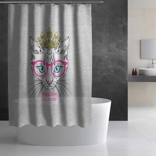 Штора 3D для ванной  Фото 03, Потому что принцесса