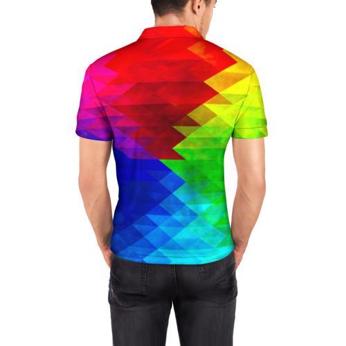 Мужская рубашка поло 3D  Фото 04, Абстракция