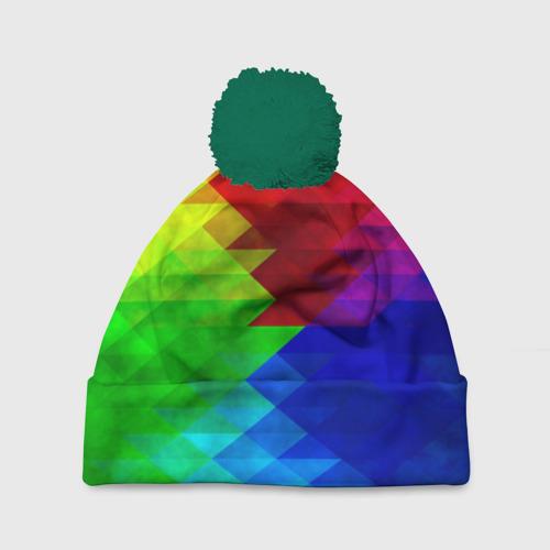 Шапка 3D c помпоном Абстракция