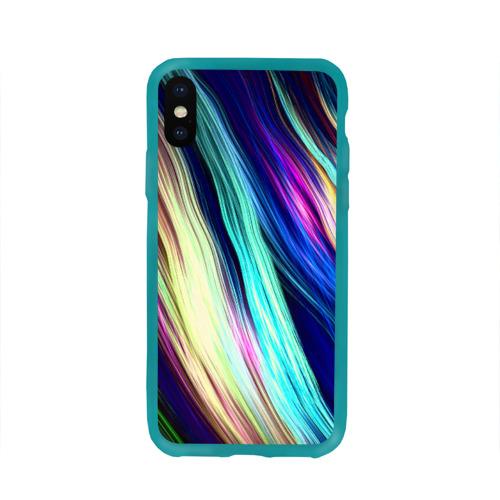 Чехол для Apple iPhone X силиконовый глянцевый Волокна Фото 01