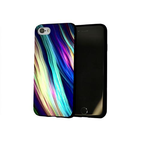 Чехол для Apple iPhone 8 силиконовый глянцевый Волокна Фото 01
